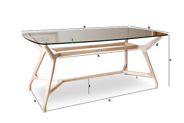 Dimensioni del prodotto Tavolo da pranzo in vetro Nixon