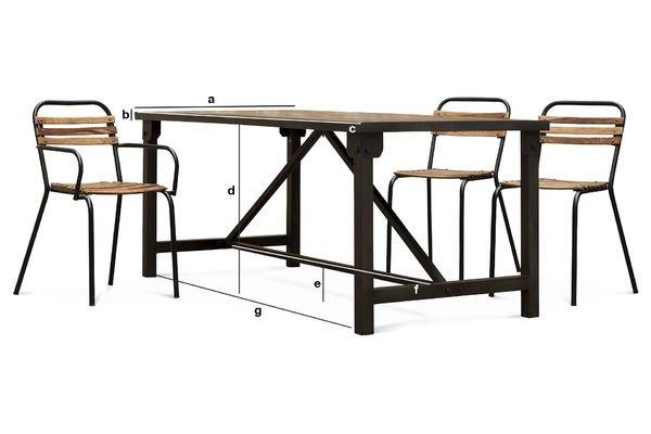 Dimensioni del prodotto Tavolo da Pranzo Kerizel