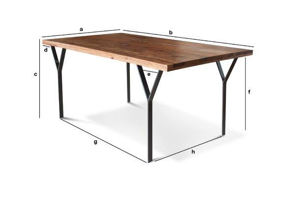 Dimensioni del prodotto Tavolo da pranzo Mabillon