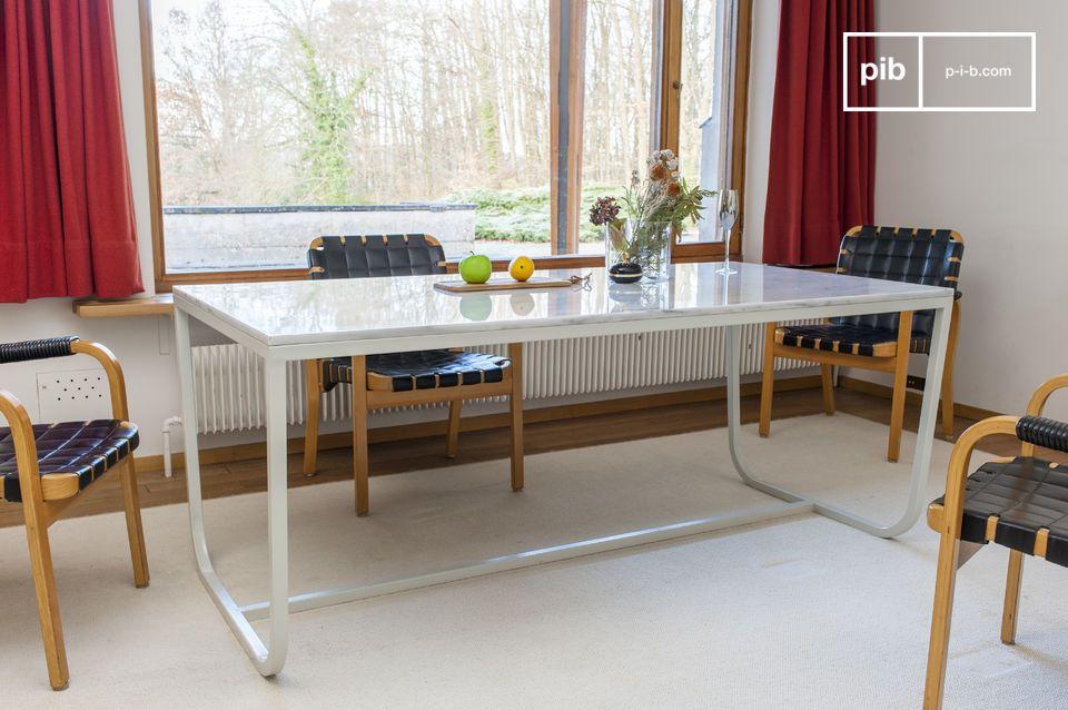 Tavolo Da Cucina In Marmo Anni 50.Tavolo Da Pranzo Nordico In Marmo Gallo Pib