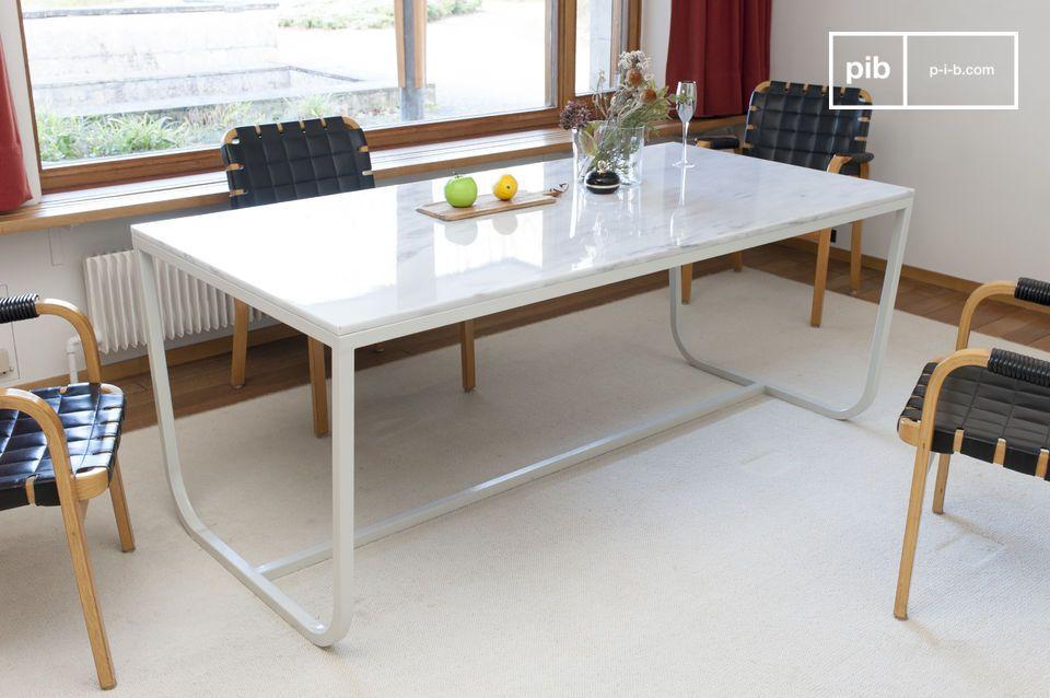 Tavolo da pranzo nordico in marmo gällo pib