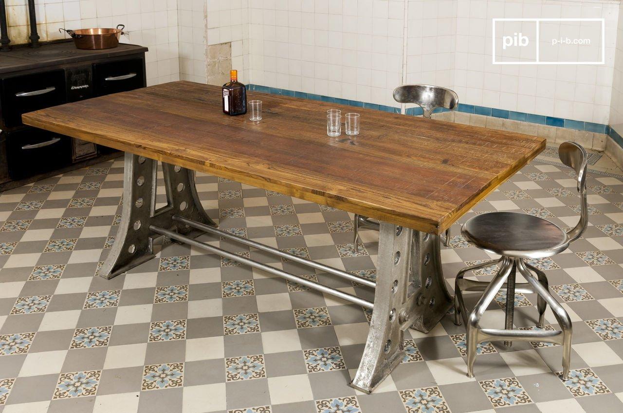 Tavolo Da Pranzo Industriale : Tavolo da pranzo liverpool linee semplici in ottone pib