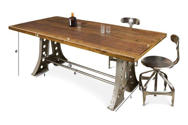 Dimensioni del prodotto Tavolo da pranzo Normandy