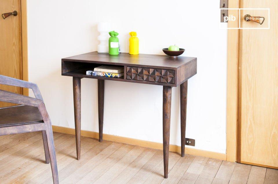 Tavolo da ufficio in legno Balkis - Effetto grafico | pib