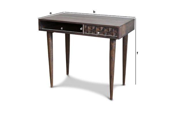 Dimensioni del prodotto Tavolo da ufficio in legno Balkis