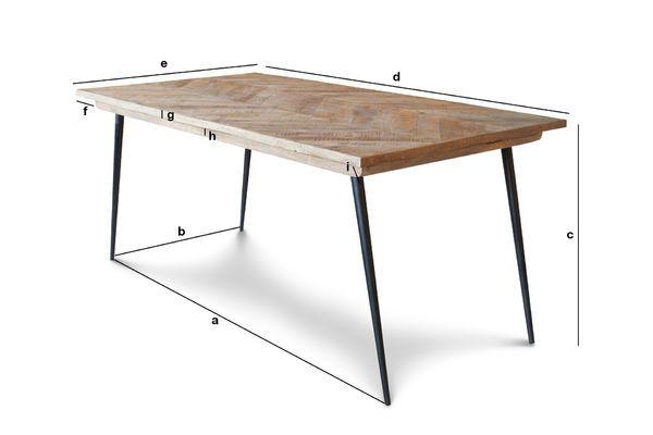 Dimensioni del prodotto Tavolo dai piedi compatti Tongeren