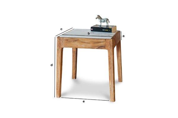 Dimensioni del prodotto Tavolo d'appoggio quadrato Marmori