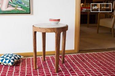 Tavolo d'appoggio rotondo Marmori