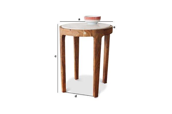 Dimensioni del prodotto Tavolo d'appoggio rotondo Marmori