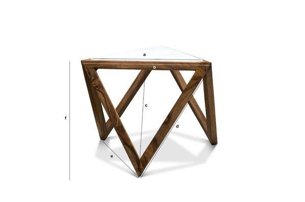Dimensioni del prodotto Tavolo d'appoggio triangolare Marmori
