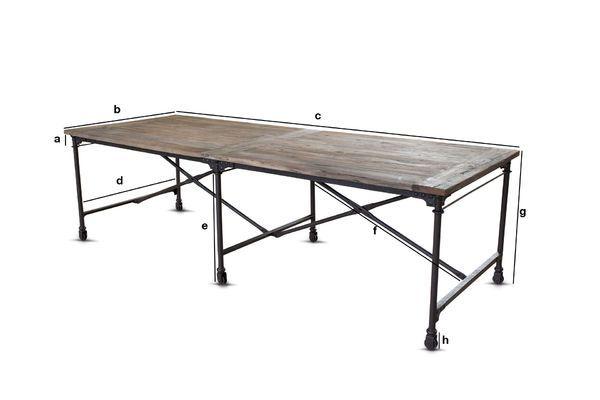 Dimensioni del prodotto Tavolo del tappezziere