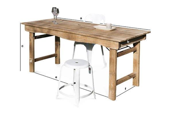 Dimensioni del prodotto Tavolo di Legno Elise