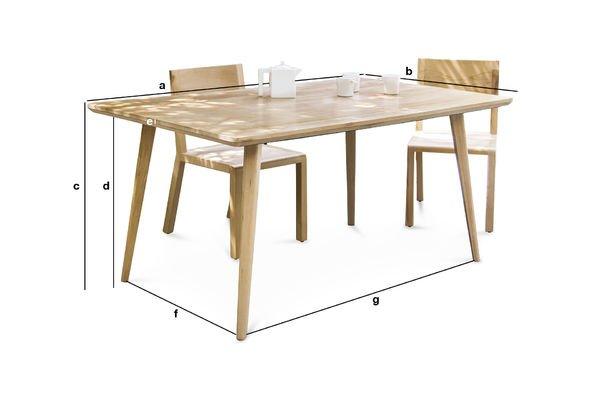 Dimensioni del prodotto Tavolo grande Möka