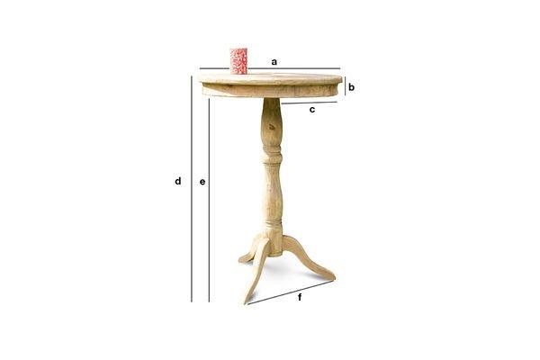 Dimensioni del prodotto Tavolo in legno Adèle