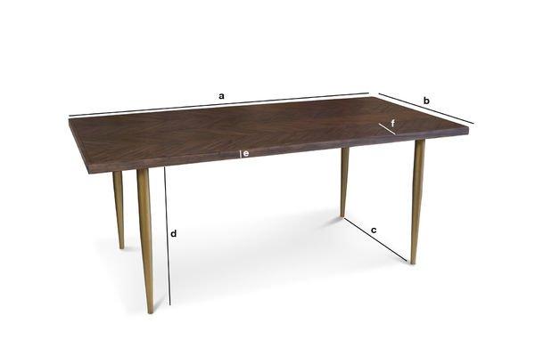 Dimensioni del prodotto Tavolo in legno Alienor