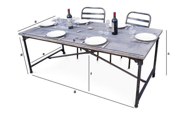 Dimensioni del prodotto Tavolo in legno d'olmo recuperato