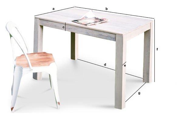 Dimensioni del prodotto Tavolo in legno Epicuro