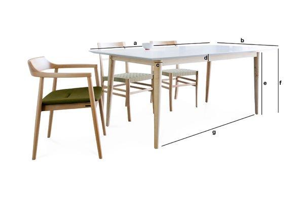 Dimensioni del prodotto Tavolo in legno Fjord
