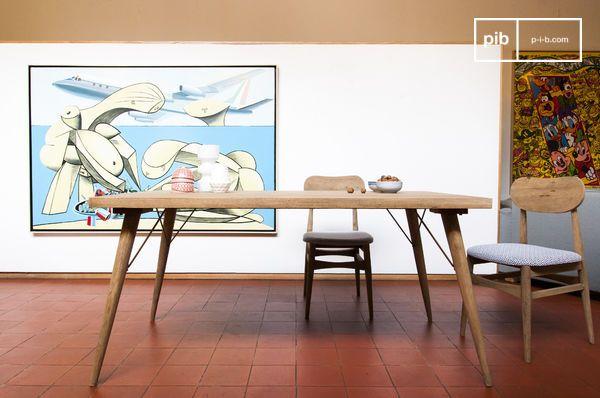 Tavolo Design Legno Naturale.Tavolo In Legno Jotun Linee Di Tendenza E Finiture Pib