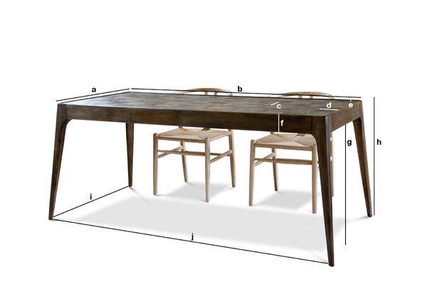 Dimensioni del prodotto Tavolo in legno Tabüto