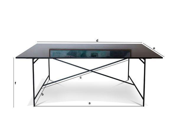 Dimensioni del prodotto Tavolo in marmo nero Thorning