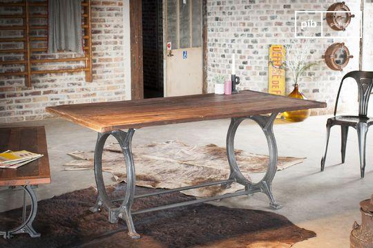 Tavolo in teak antico Tonnel