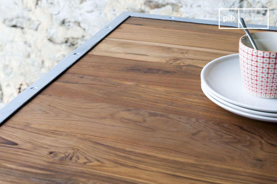 Tavolo in teak Bollène - dal Tocco industriale | pib