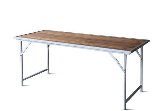 Tavolo in teak Bollène Foto ritagliata