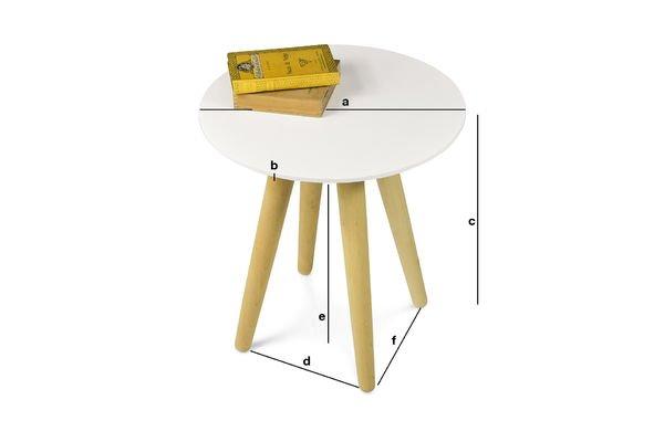 Dimensioni del prodotto Tavolo Occasionale Beel