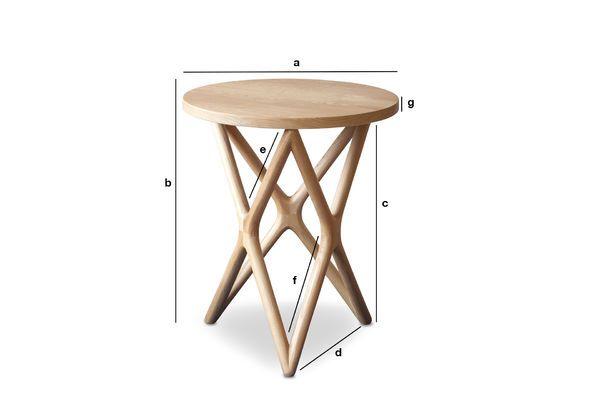 Dimensioni del prodotto Tavolo occasionale in legno Estrella