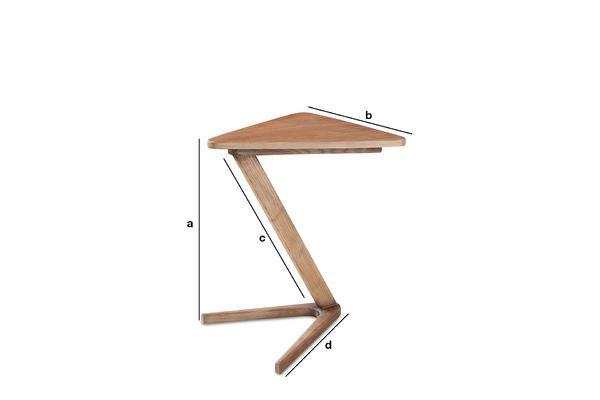 Dimensioni del prodotto Tavolo occasionale in legno Fleetwood
