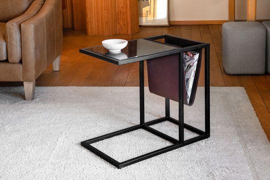 Tavolo per riviste in marmo Noora