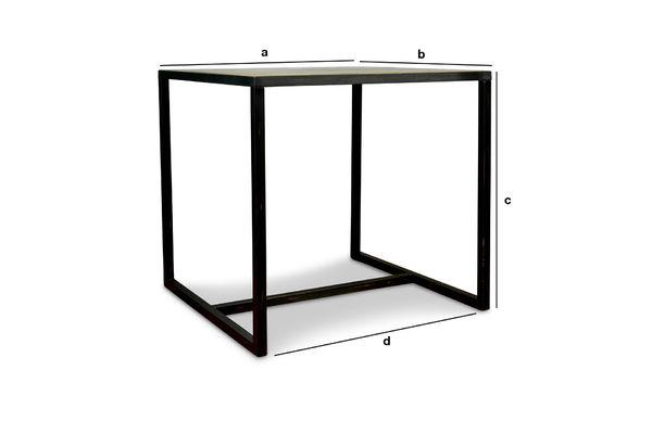 Dimensioni del prodotto Tavolo quadrato Manhattan