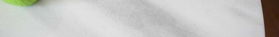 Materiali prima di tutto Tavolo rotondo in marmo bianco Lemvig