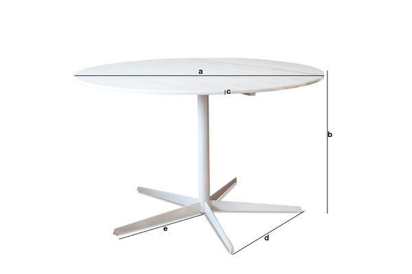 Dimensioni del prodotto Tavolo rotondo in marmo bianco Lemvig