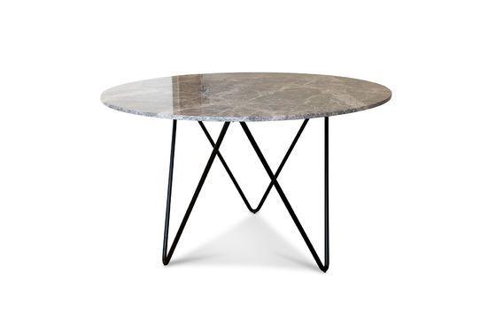 Tavolo rotondo in marmo nero Grimaud Foto ritagliata