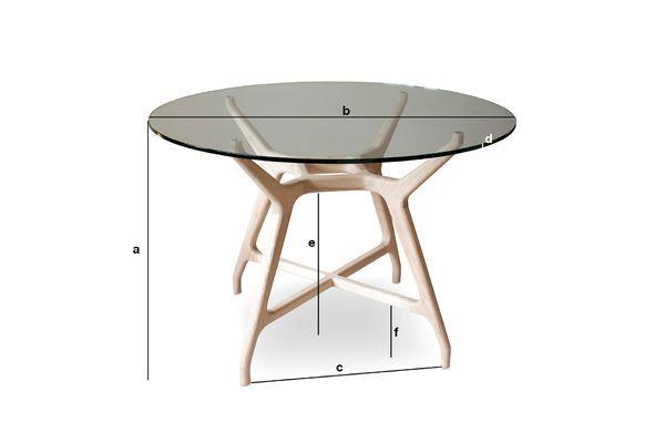 Dimensioni del prodotto Tavolo rotondo in vetro Nixon