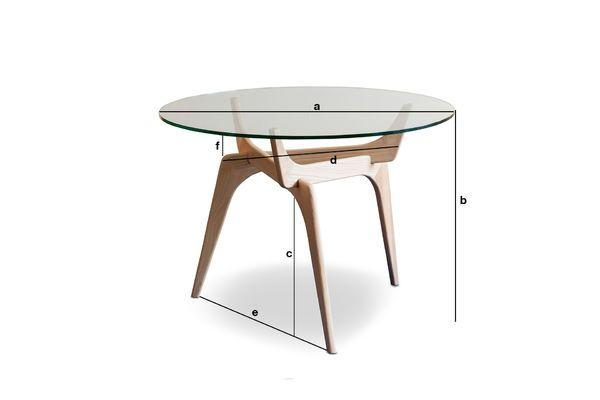 Tavolo Rotondo In Vetro Parkano Frassino Massello