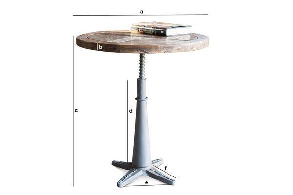 Dimensioni del prodotto Tavolo rotondo Merritt