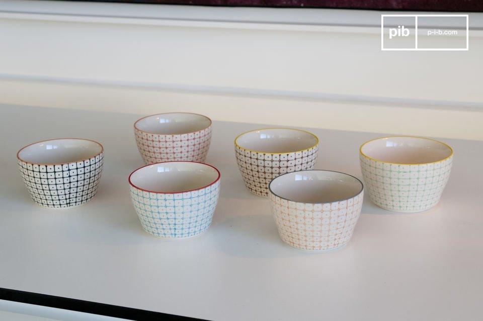6 tazzine di ceramica dipinte a mano per servire il caffè ai tuoi ospiti