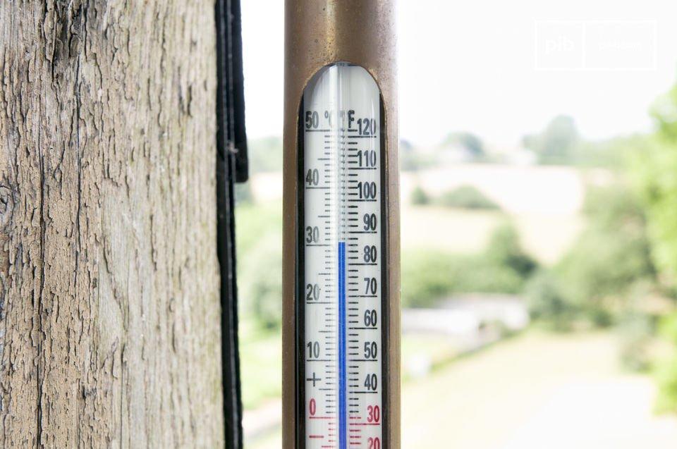 Termometro in stile retro sia da interno che da esterno