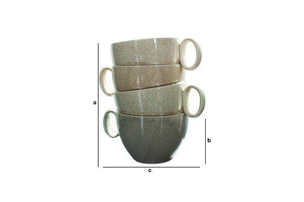 Dimensioni del prodotto Vaso Amalia con Tazze