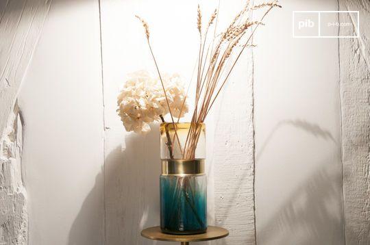 Vaso di vetro Brassbelt
