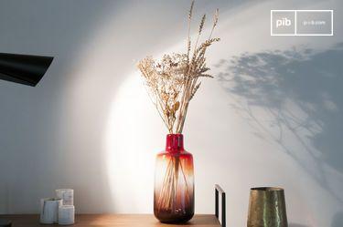 Vaso di vetro rosso Bobby