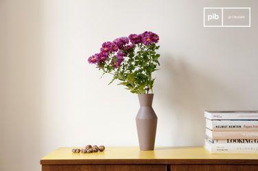 Vaso in ceramica Corsetto color ruggine