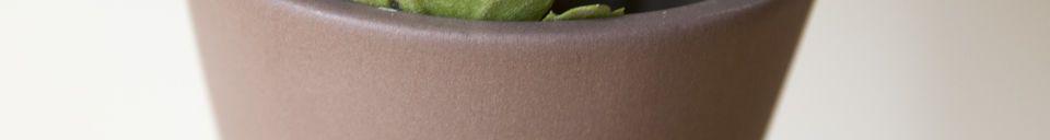 Materiali prima di tutto Vaso in ceramica Corsetto color ruggine