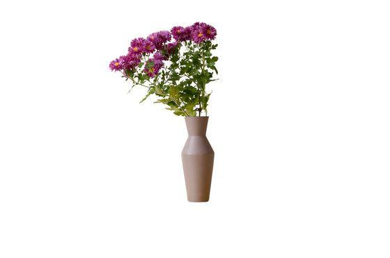 Vaso in ceramica Corsetto color ruggine Foto ritagliata