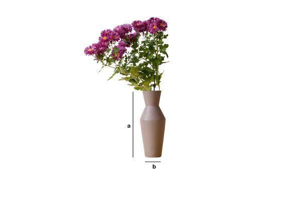 Dimensioni del prodotto Vaso in ceramica Corsetto color ruggine