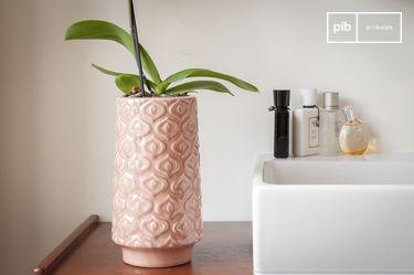 Vaso in ceramica rosa Aurore