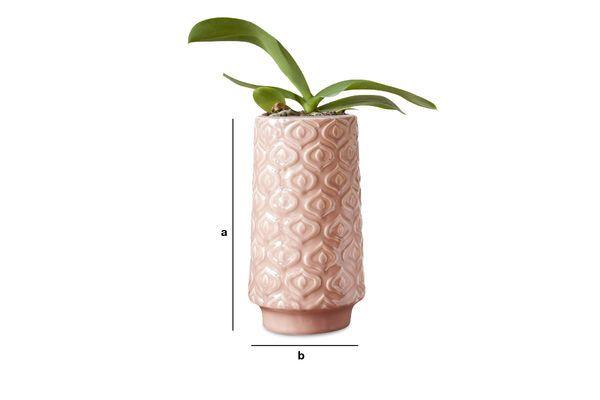 Dimensioni del prodotto Vaso in ceramica rosa Aurore